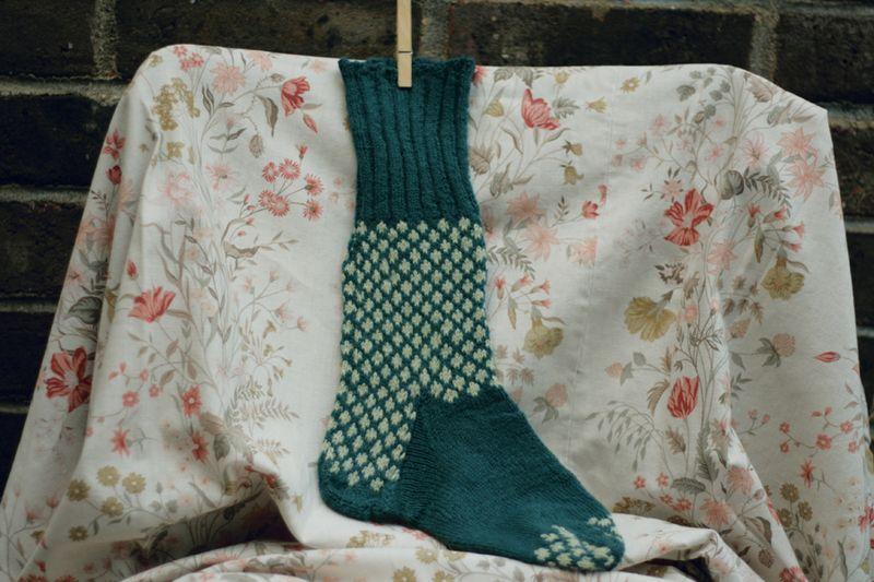 Knit bluesock01